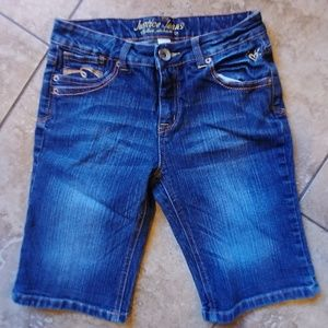 💋 Justice jeans shorts 14r